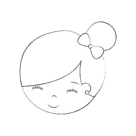 Mignon personnage de petite fille de bande dessinée de personnage de ballerine vecteur illustration Banque d'images - 88525486