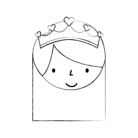 Das kleine Mädchen tanzte Ballett mit Krone Vektor-Illustration Standard-Bild - 88537322