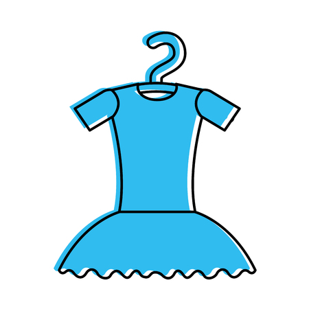 Tutu ballet on the hanger costume classic vector illustration