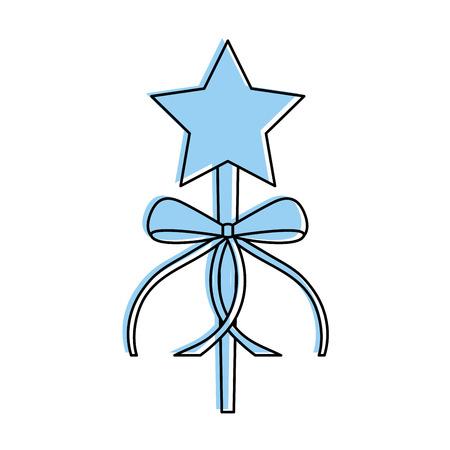 ボー リボン装飾ベクトル イラスト姫杖