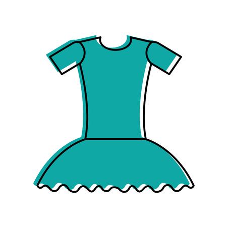ballet dress ballet dress elegant costume vector illustration