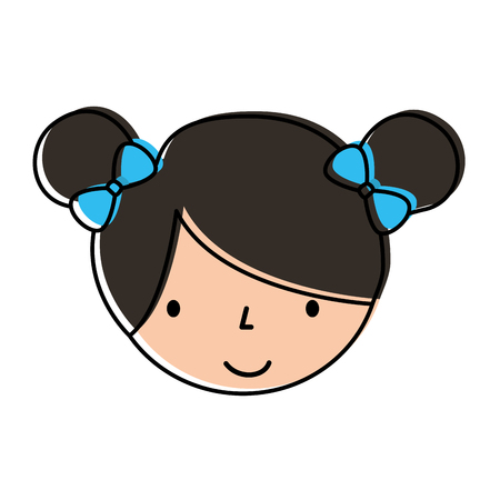Mignon personnage de petite fille de bande dessinée de personnage de ballerine vecteur illustration Banque d'images - 88537661