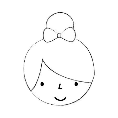 Mignon personnage de petite fille de bande dessinée de personnage de ballerine vecteur illustration Banque d'images - 88537663