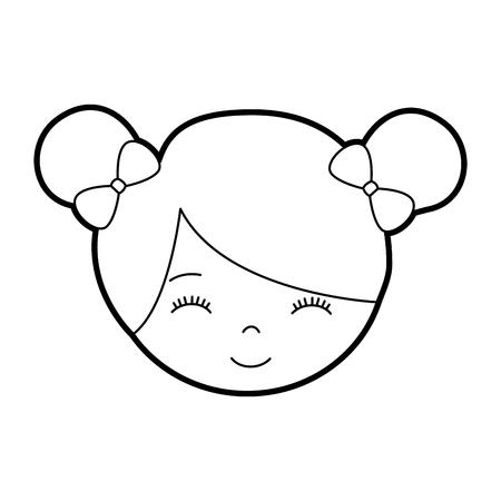 Mignon personnage de petite fille de bande dessinée de personnage de ballerine vecteur illustration Banque d'images - 88547241
