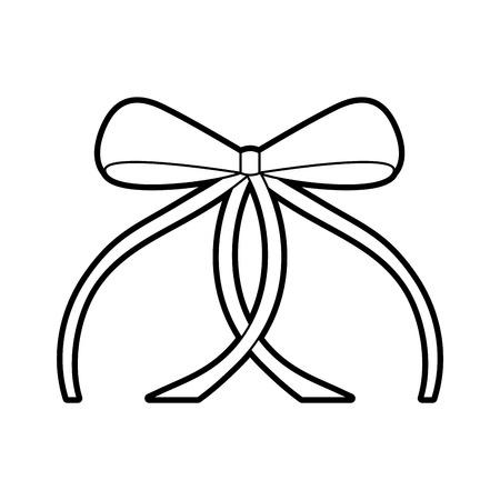 Ilustración de vector de ornamento de decoración de arco de ballet de cinta Foto de archivo - 88537458