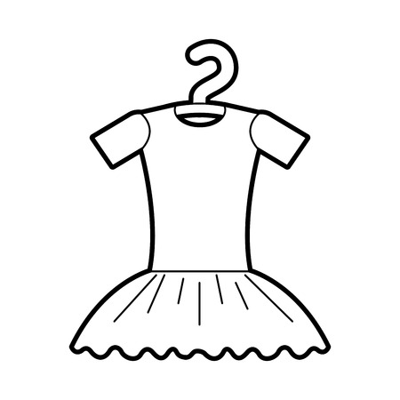 tutu ballet on the hanger costume classic vector illustration 向量圖像