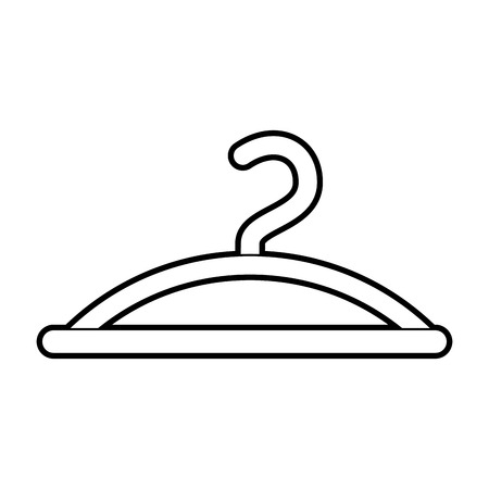 clothes hanger hook fashion empty icon vector illustration Illustration
