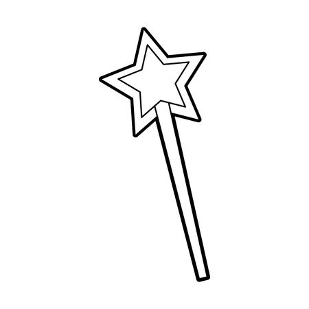 Ilustración de vector de fantasía mágica hada varita imaginación Ilustración de vector