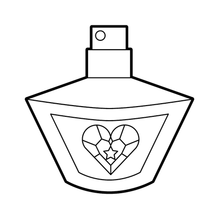 princess perfume fragance accessory bottle beauty vector illustration