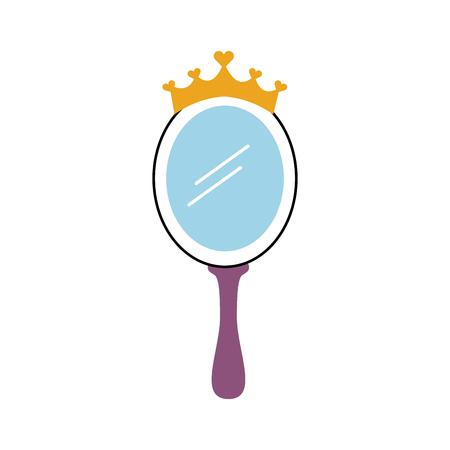 Espelho mágico da princesa da coroa com corações ilustração vetorial Foto de archivo - 88537847