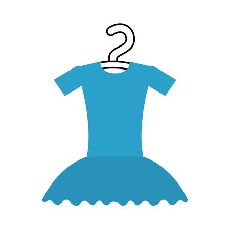 tutu ballet on the hanger costume classic vector illustration Illustration