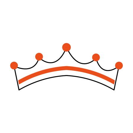 Couronne de redevance princesse girly avec des bijoux illustration vectorielle Banque d'images - 88537695