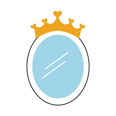 왕관 거울 공주 장식 액세서리 벡터 일러스트 레이션