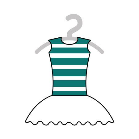 tutu ballet on the hanger costume classic vector illustration 向量圖像