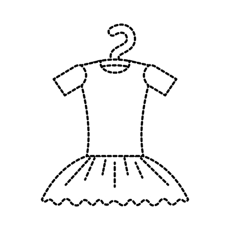 tutu ballet on the hanger costume classic vector illustration Illustration