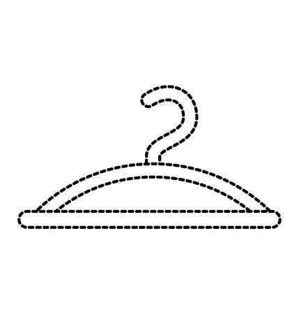 ハンガー フック ファッション空のアイコン ベクトル イラスト