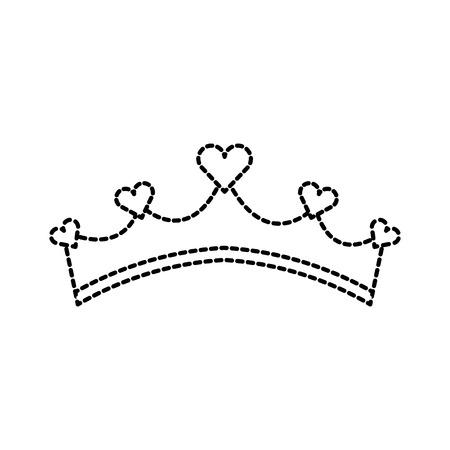 Girly Prinzessin Abgaben Krone mit Herz Juwelen Vektor-Illustration Standard-Bild - 88538182