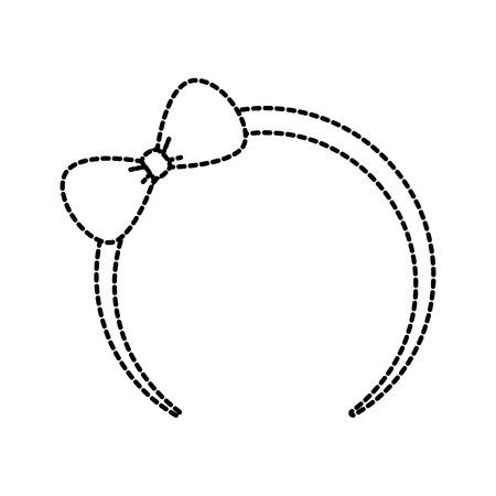 かわいい小さな女の子のアイコン ベクトル図のための弓ヘッドバンド  イラスト・ベクター素材