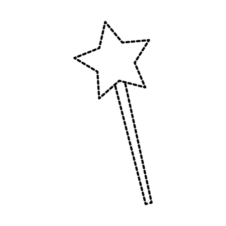 magical fairy wand imagination fantasy vector illustration Illustration