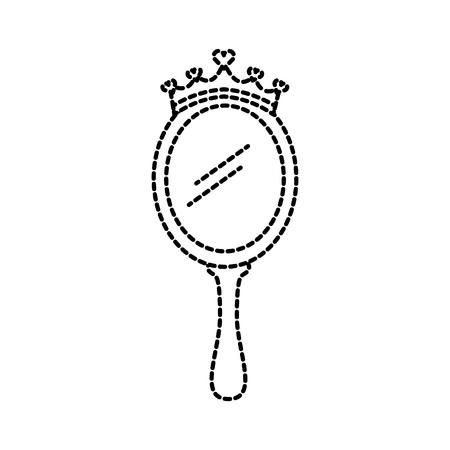 kroon prinses magische spiegel met harten vectorillustratie Stock Illustratie