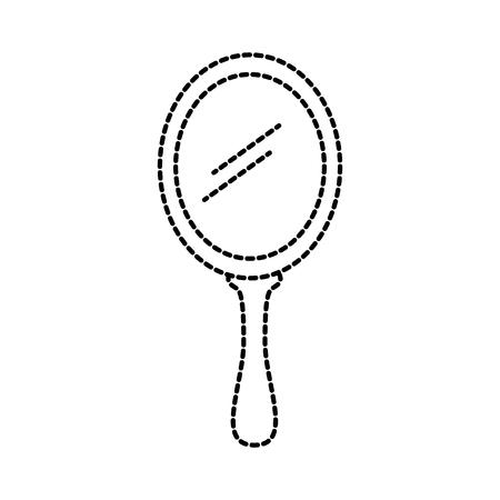 プリンセスミラーガラス柄アクセサリーベクターイラスト  イラスト・ベクター素材