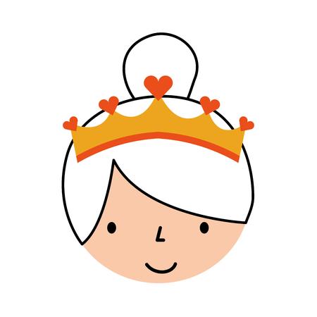 Cara linda ilustración de vector de personaje de dibujos animados de bailarina de niña pequeña Foto de archivo - 88538432