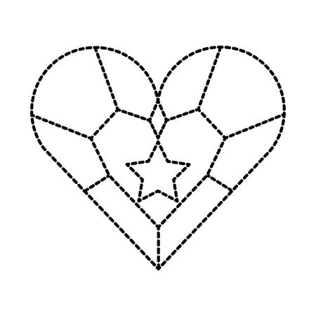 sieraden hart ster hanger luxe fantasie vectorillustratie Stock Illustratie