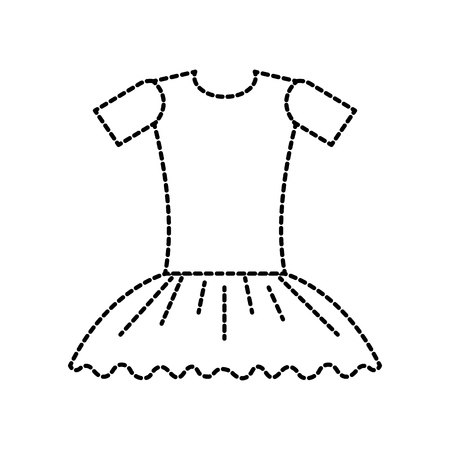 ballet dress ballet dress elegant costume vector illustration
