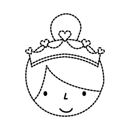 Mignon personnage de petite fille de bande dessinée de personnage de ballerine vecteur illustration Banque d'images - 88538435