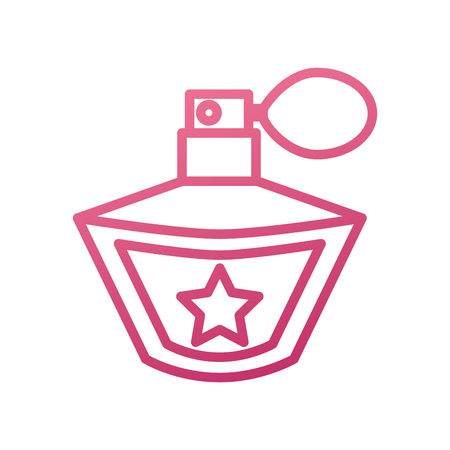 prinses parfum fragance accessoire fles schoonheid vector illustratie