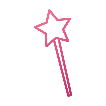 magical fairy wand imagination fantasy vector illustration 向量圖像