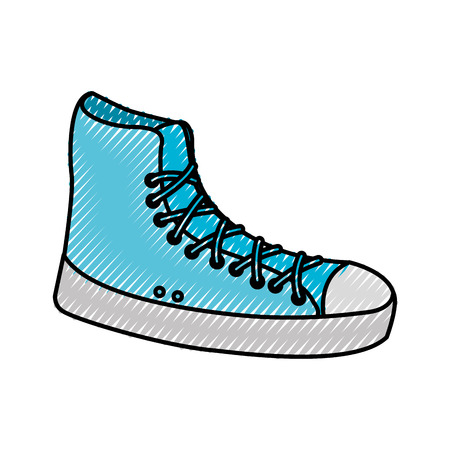tennis shoe sport casual boot icon vector illustration