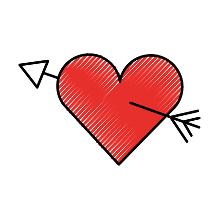 amour symbol with heart and arrow icon vector illustration Illustration
