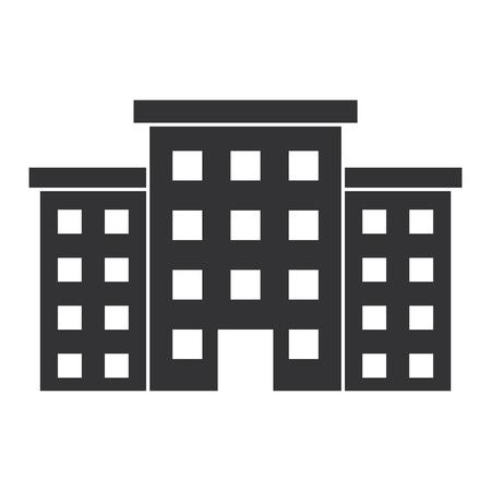 Krankenhausgebäude isoliert Symbol Vektor-Illustration , Design , Standard-Bild - 88538677