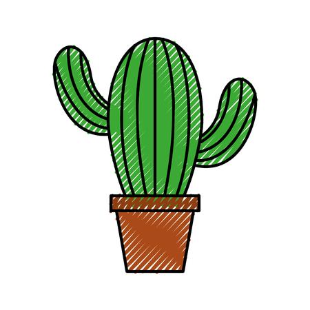 Ingemaakte cactus natuurlijke plant decoratie interieur vectorillustratie Stockfoto - 88539048