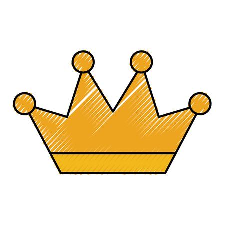Krone verzierten Schmuck Royal Fantasy Bild Vektor-Illustration