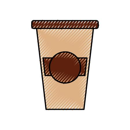 携帯用コーヒー カップ紙キャップ新鮮なベクトル図
