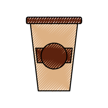 portable coffee cup paper cap fresh vector illustration