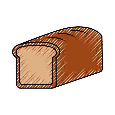baked bread food breakfast fresh vector illustration Ilustração