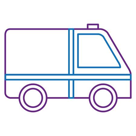 ambulance car isolated icon vector illustration design Stock Vector - 88541178