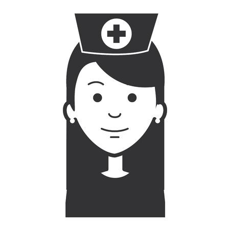 beutiful nurse avatar character vector illustration design
