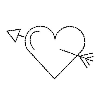 heart and arrow icon vector illustration