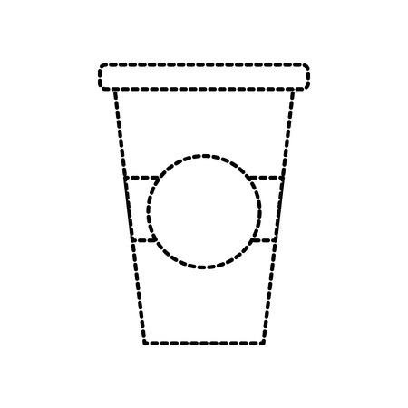 draagbare koffie beker papier cap verse vectorillustratie