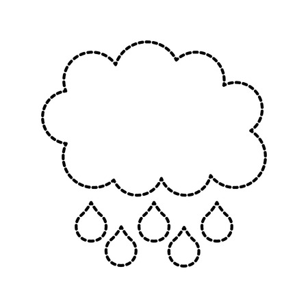 cloud rain drop weather climate icon vector illustration