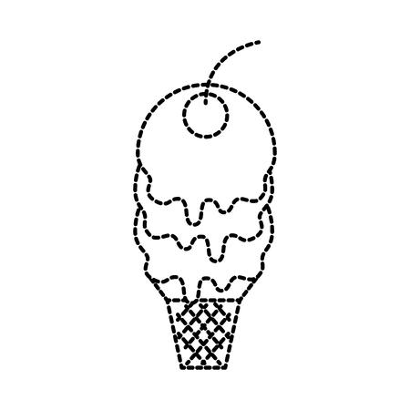 sweet cold ice cream berry tasty vector illustration Ilustração