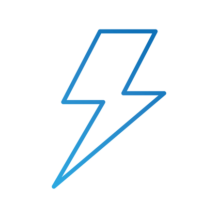 electric lightning bolt with shading effects vector illustration