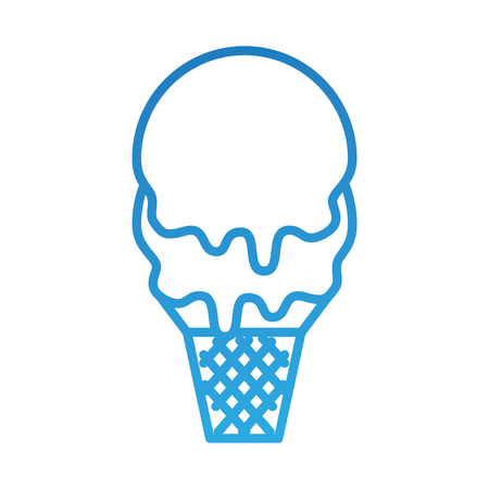 ice cream in waffle cone flavor sweet vector illustration Zdjęcie Seryjne - 88542789