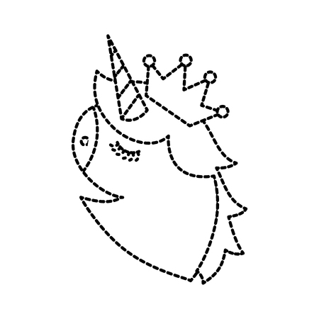 unicorn head portrait horse magic cartoon fantasy cute animal vector illustration Фото со стока - 88542802