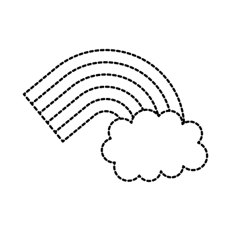 symbol of rainbow and clouds in the sky vector illusttration Ilustracja