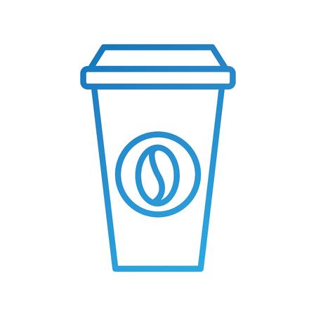 portable coffee cup paper bean cap fresh vector illustration Ilustração